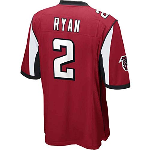 YMXBK T-Shirt NFL Trikot Atlanta Falcons Fans Version des Stickerei Fußball Jersey Kurzarm Sport Top,2-red,XXL