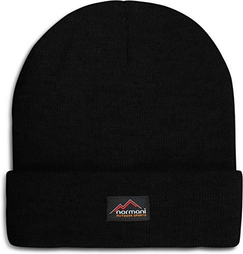 normani Wasserabweisende Wintermütze bis -30°C Kälte getestet wählbar One Size,Schwarz Farbe Schwarz