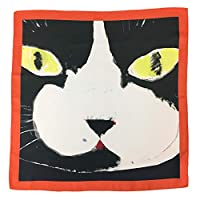 日本製 シルクスカーフ マンハッタナーズ ネコ柄 おしゃれ スカーフ 猫 Manhattaner's (マーベリック・クマ)