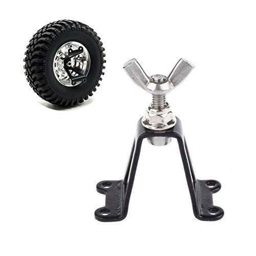 Egosy Spare Tire Rack, Reserveradhalterung Metall hinten Reserveradhalter Radhalterung für Axial SCX10 RC4WD D90 Tamiya