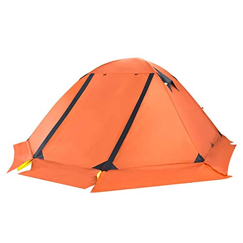 PN-Braes Tents Ultra-light Double Double-layer Aluminum Pole Anti-storm And Snow Outdoor Camping Professional Mountaineering Four Seasons Snow Tent for Outdoor and Hiking Traveling
