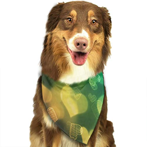 Sitear Harten Kleurrijke Donker Behang Hond Kattenhalsdoek Set Geschikt voor Kleine tot Grote Hond Katten