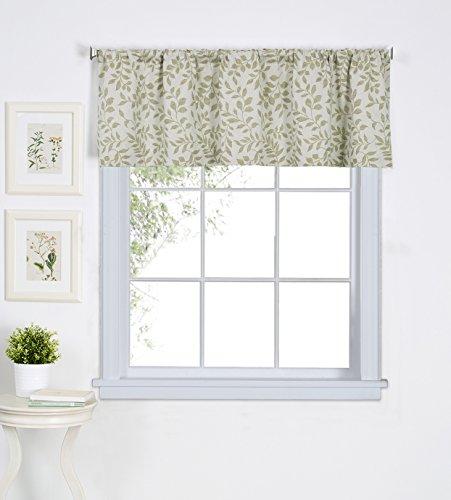 Elrene Home Fashions 26865775600 Window Valance, 60' x 15' (1, Sage Green