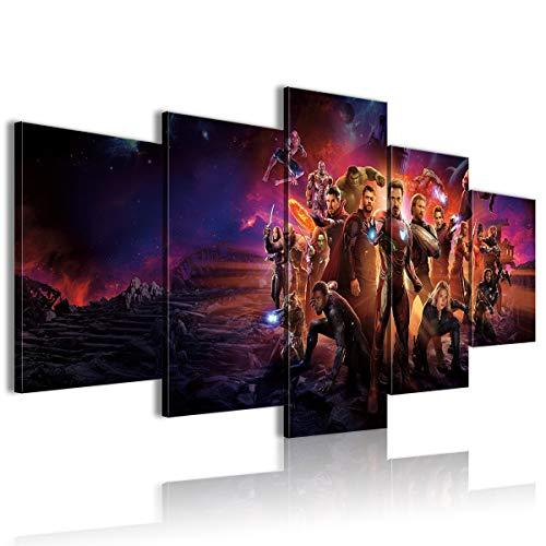 AivGEG Poster su Tela 5 Pezzi Avengers: Infinity War Home 100x50 con Cornice