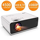Artlii Videoprojecteur - Enjoy, ±45° 4D Correction, 30% Plus Lumineux, supporte Le 1080P, Projecteur de Faible Bruit, Videoprojecteur Portable Compatible Apprentissage à Distance Remote Learning