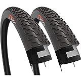 Fincci Paar 26 x 4.0 Zoll 100-559 Fett Reifen für Rennrad Mountain MTB Schlamm Schmutz Offroad Fahrrad (2er Pack)