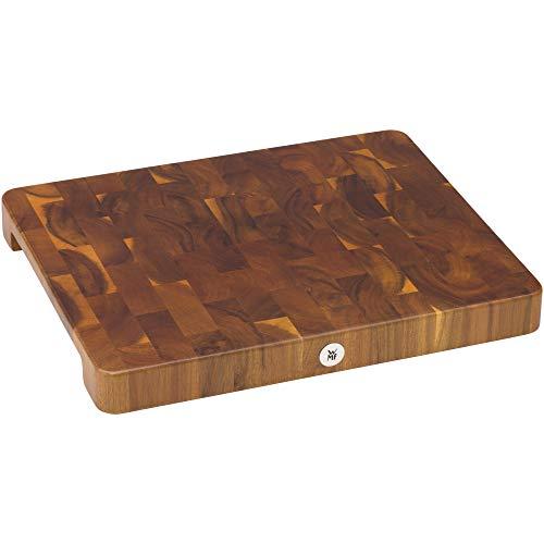 WMF Schneidebrett, XL 40 x 32 cm x 4 cm, Holz, Akazienholz, klingenschonend, große Arbeitsfläche, Stirnholzoptik