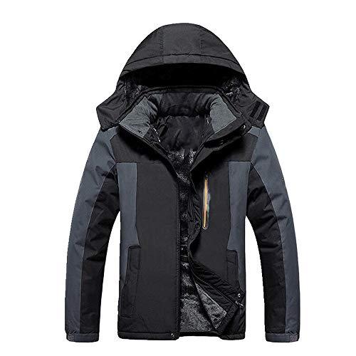 Chaqueta de invierno al aire libre de gran tamaño de los hombres más terciopelo grueso chaqueta de montañismo