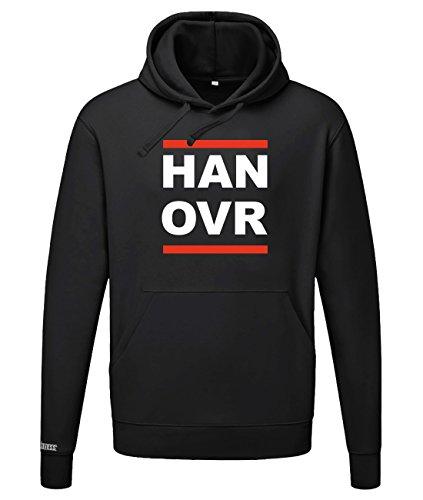 Jayess HAN OVR - Hannover - Herren Hoodie in Schwarz by Gr. XL