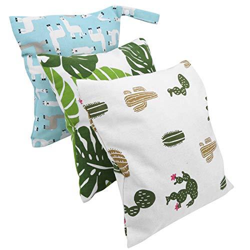 Pañales Bolsa mojada, de moda y hermosa, ligera, reutilizable, bolsas de pañales, bolsas de transporte de pañales, para bolsas de viaje, bolsas de almacenamiento(A set of diaper bags)