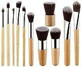 Foolzy 11Pcs Makeup Brush Set Professional Kabuki Foundation Blending Blush Concealer Eye Face