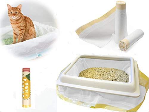 Manfâ Bolsas de Basura para Gatos 2 Paquetes (14 Bolsas), Bolsas de Basura de Prueba 8 Bolsas como Regalo (medium915 * 457 * 0.032 mm)