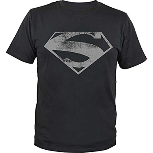 DC Comics - Herren T-Shirt Superman Black and White Logo gr. XXL Oberteil