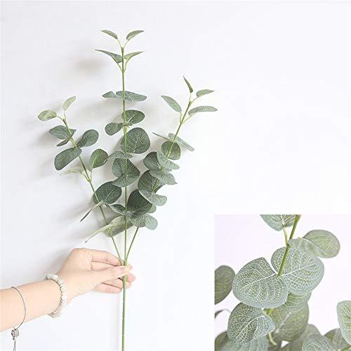 Mrjg Kunstblumen Künstliche Blätter Zweig Retro Grüne Seide Eukalyptusblatt for Wohnkultur Hochzeit Pflanzen Faux Stoff Laub Raumdekoration 68 cm Grünpflanzen (Color : Green)