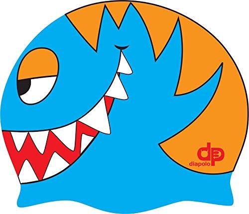 Diapolo Professionale Schwimmkappe Fish Head Silikon Badekappe Bademütze Schwimmmütze für Damen und Herren und Mädchen und Jungen