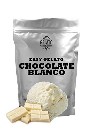 Base mix para helado de CHOCOLATE BLANCO, con 1.5 kg mix + 2.5 lt leche se obtienen 5,5 litros de helado