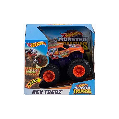 Hot Wheels Monster Trucks Rev Tredz Double Trouble Vehicle