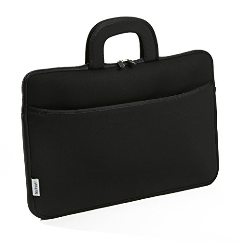 Fit & Fresh Protective Neoprene Laptop Bag with Zippered Storage Pocket, Case Fits Most Laptops with Displays Up To 15.6 Inches, Including Apple, Microsoft, Acer, Samsung, Google, Lenovo, BLACK