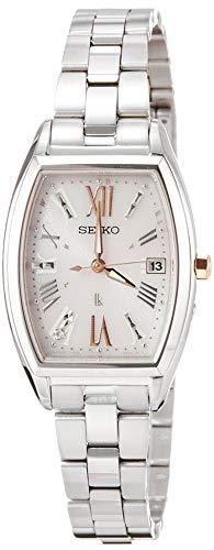 [セイコーウォッチ] 腕時計 ルキア LUKIA(ルキア) ソーラー電波 ダイヤモンド入りダイヤル サファイアガラス プラチナダイヤシールド SSVW167 レディース シルバー
