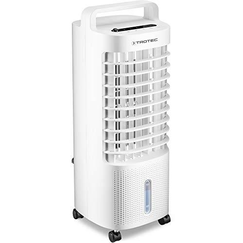 TROTEC Aircooler PAE 11 Luftkühler 3-in-1 mobile Klimaanlage Ventilator Luftbefeuchter 3 Gebläsestufen 3 l Tank Verdunstungskühlung Luftfilter
