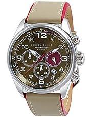 [ペリー・エリス]Perry Ellis 腕時計 GT クォーツ 44 mmケース 本革バンド 01004-01 メンズ 【正規輸入品】
