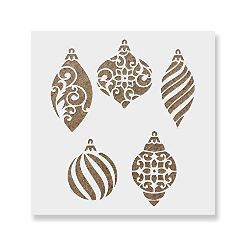 Christmas Ornaments Stencil - DIY Christmas Stencils of Ornaments That Work Great for Wood Signs and DŽcor