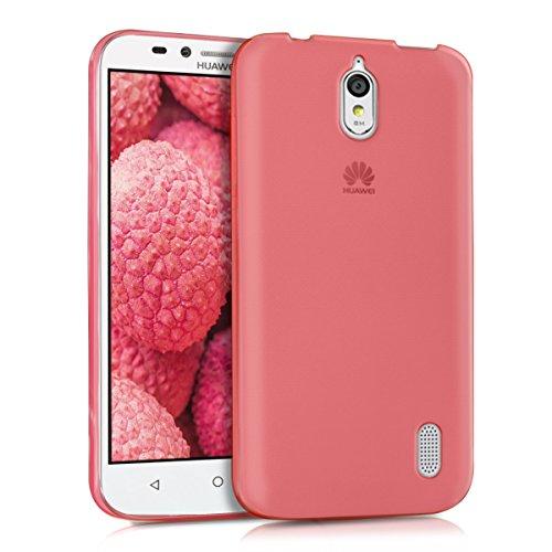 kwmobile Hülle für Huawei Y625 - Ultra Slim Case Handy Schutzhülle TPU Silikon - Backcover Cover Koralle