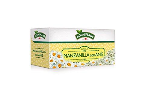 Hornimans - Bolsitas de té manzanilla con anis clásicas, 25