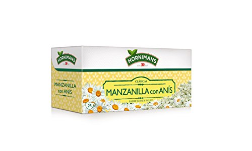 Hornimans - Bolsitas de te manzanilla con anis clasicas, 25 x 1,4 g
