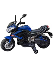 Super Ride On Kawasaki Styled 12V Ride On Motorcycle Music And Lights by Rayan Toys - Blue