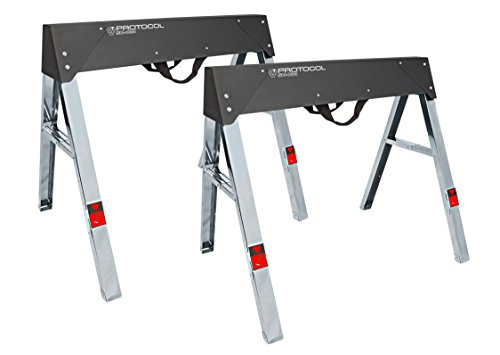 PROTOCOL Equipment 92784 Steel Sawhorse, Set of 2
