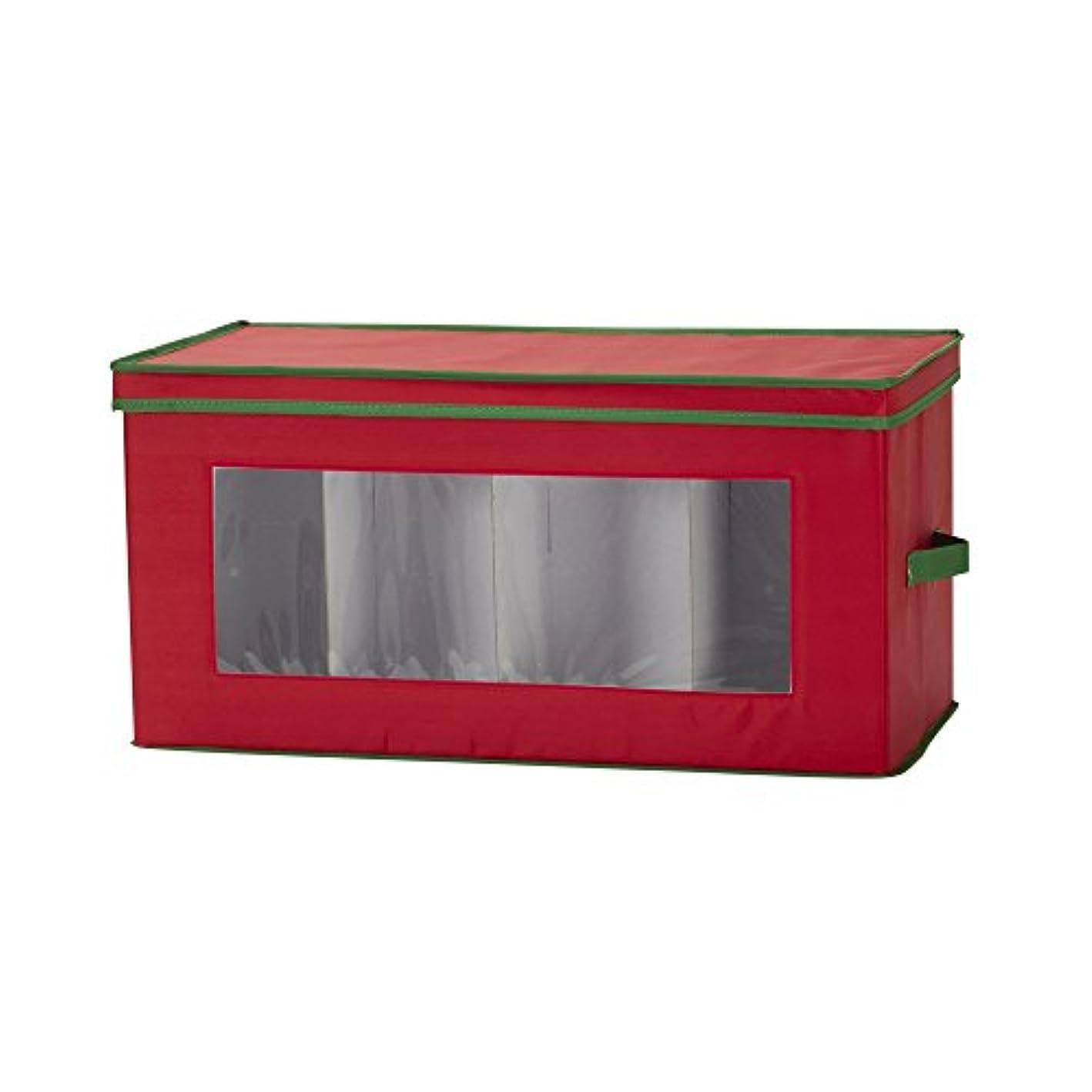 Household Essentials 554RED Figurine Holiday Vision Storage Box Chest, 8-Piece