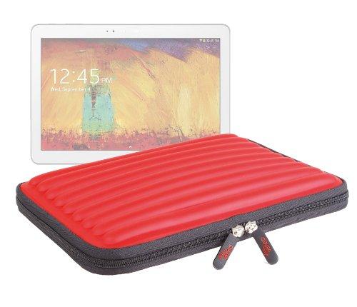 """DURAGADGET Etui de Transport Rouge en Mousse à mémoire de Forme pour Samsung Galaxy Note 10 Edition 2014 Tablette 10,1"""" SM-P600 / P601 / P605 16 Go 32 Go"""