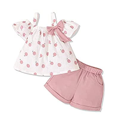 Toddler Girl Clothes Camisole Tops Solid Denim Jeans Shorts 2PCS Girl Clothes Sets Cotton Linen Summer Girls Clothes 18-24 Months Girl Clothing Purple Pink by