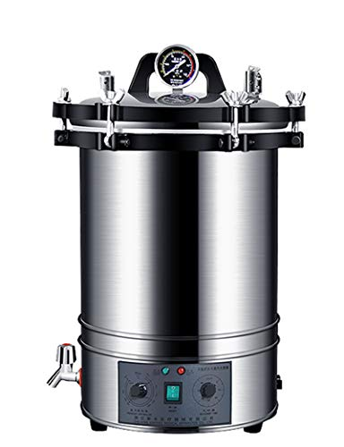 Hanchen Autoklav Dampfsterilisator 18L Hochdruck Zeit & Temperatur Einstellbar Elektrischer Edelstahl Sterilisationsgerät 220V für Labor Zuhause Essen Fabrik