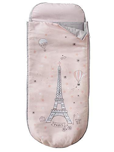 Vertbaudet Readybed® Schlafsack, mit integrierter Matratze, Motiv Paris Feerie, Rosa