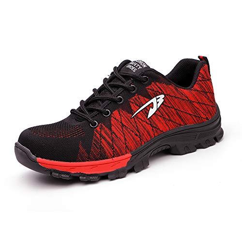 Ali-tone Sicherheitsschuhe S3 Damen Herren Arbeitsschuhe Leicht Sportlich Sneaker Schutzschuhe mit Stahlkappe