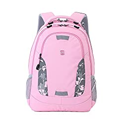 Swiss Gear SA6907 Laptop Computer Tablet Notebook Backpack - for School, Travel, Carry On Luggage, Women, Men, Student, Professional Use - Pink, 19 Inches