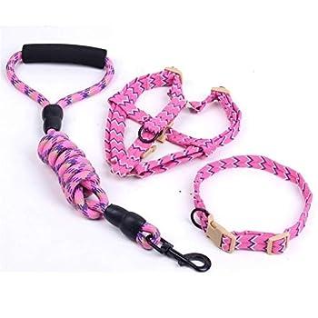 Pet Produits for Animaux Domestiques for Colliers De Chien Harnais Laisse Petit for Chien Fournitures De Harnais De Collier De Chien Laisse for Animal Classic (Color : Pink, Size : M 8mm X 120cm)