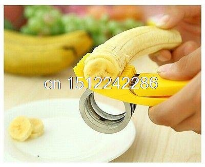 Neuf en acier inoxydable Banane trancheuse de cuisine Légumes Fruits Cutter Outil