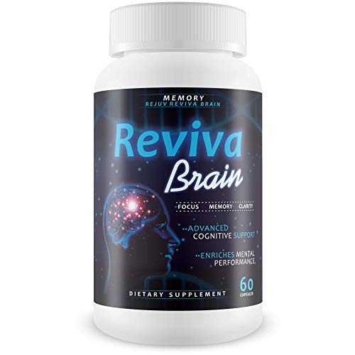 Reviva Brain Memory Rejuv - Advanced Cognitive Support - Enriches Mental Performance - Focus - Memory - Clarity - Nootropic Brain Pills - Mental Energy and Precision