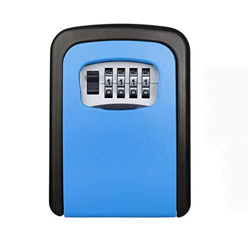 Sleutelslot doos, combinatiesleutel opbergdoos met Resettable Code, Key Safe Box Muurbevestiging Buiten Perfect voor Makelaars, Aannemers, Kinderen, Reservesleutel Opslag voor Huis Blauw