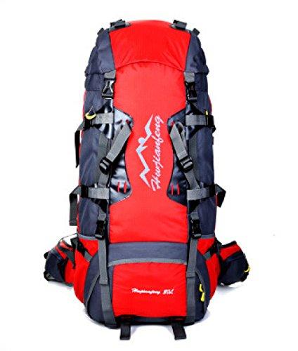 WuJiPeng Sac à Dos De Camping De Randonnée Extérieure De Grande Capacité Alpinisme Polyvalent Et Sac à Dos Tactique 56-75L Sac à Dos D'escalade De Loisirs Imperméable à L'eau,D