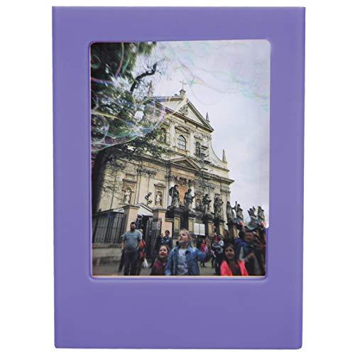 Marco de fotos magnético de colores brillantes, imanes de nevera Polaroid, para decoración de fotos(Violet)
