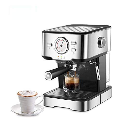 HIBREW 19 Bar Espressomaschine aus Edelstahl, halbautomatisch, Expresso, Cappuccino, Maker, Dampfstab, Warmwassertemperaturmesser, H5 (Inox)