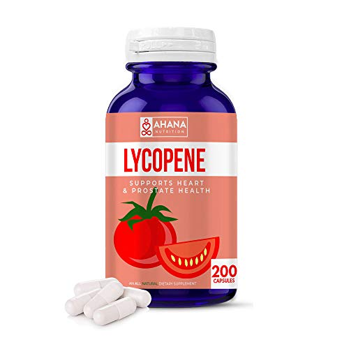 Ahana Nutrition Lycopene 50mg Capsules - Prostate Health, Supports Eye Health & Vision, Heart Health, Maintains Blood Pressure & Supports Brain Function (200 Capsules)