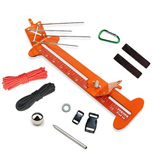 PSKOOK AFFE Faust Jig und Paracord Jig Armband Maker Paracord Tool Kit Einstellbare Länge Metall Weben DIY Craft Maker Werkzeug 4