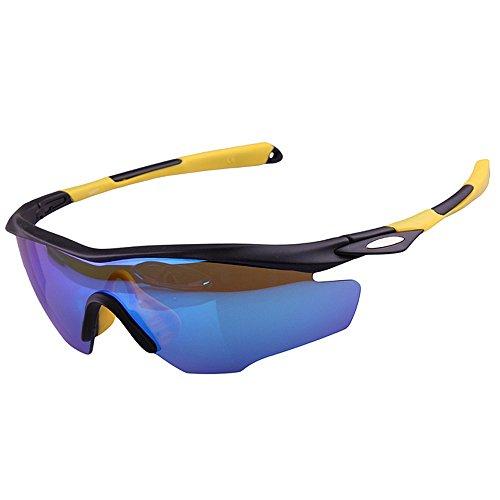 Keliour Estilo clásico de protección UV Brillantes Colores polarizados Unisex Deportes Gafas...