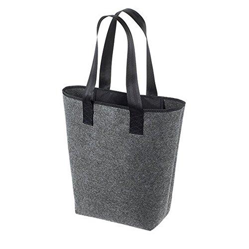 HALFAR® HF5710 Shopper Newclassic Freizeittaschen Einkaufstaschen Tasche, Farbe:Anthracite