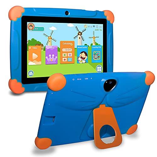GAOword Android 8.1 Tableta portátil PC PC de 7 Pulgadas Regalos para niños Aprendizaje y educación Edición de Moda 1GB 16GB Kids Tablet PC y Control de Parentales HD Mostrar Cuidado del Ojo